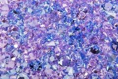 De blauwe glanzende foto van de gemmenclose-up royalty-vrije stock foto's
