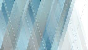 De blauwe grijze abstracte geometrische videoanimatie van technologie stock videobeelden