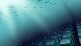 De blauwe grijze CG-animatieachtergrond voor introtv toont stock footage