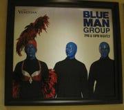De blauwe Groep van de Mens Royalty-vrije Stock Afbeeldingen