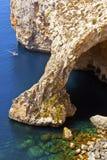 De Blauwe Grot op de zuidoostelijke kust van Malta. Royalty-vrije Stock Afbeeldingen