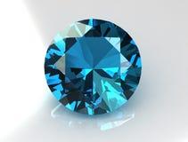De blauwe Halfedelsteen van de Topaas Royalty-vrije Stock Foto