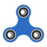 De blauwe hand friemelt spinner Vector illustratie op witte achtergrond Stock Foto's
