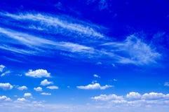 De blauwe hemel. Stock Afbeelding