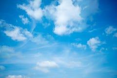 De blauwe hemel is behandeld Royalty-vrije Stock Foto's