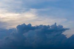 De blauwe Hemel betrekt Cumulusachtergrond Royalty-vrije Stock Afbeelding