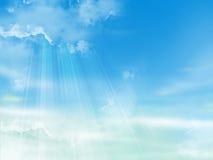 De blauwe hemel met wolken Royalty-vrije Stock Foto's