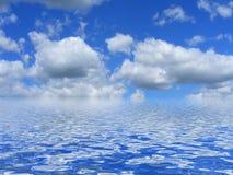 De blauwe hemel van de zomer Stock Foto's