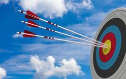 De Blauwe Hemel van doelbullseye stock illustratie