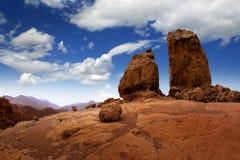 De blauwe hemel van Gran Canaria Roque Nublo royalty-vrije stock afbeelding