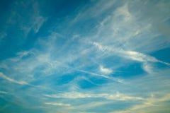 De blauwe hemel van het landschap Stock Fotografie