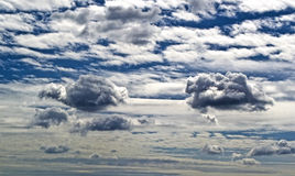 De blauwe hemel van wolken Royalty-vrije Stock Foto