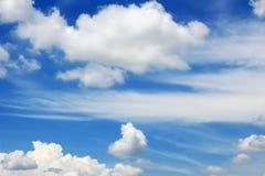 De blauwe hemel van wolken Royalty-vrije Stock Afbeeldingen