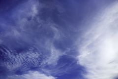 De blauwe hemeldag stock afbeeldingen