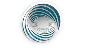De blauwe hemisferen of de kommen passen elkaar Ontwerp, diverse grootte of plastieken het verwante 3D teruggeven Stock Foto
