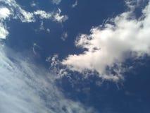 De blauwe hete hemel stock foto