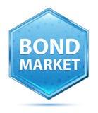 De blauwe hexagon knoop van het Obligatiemarktkristal vector illustratie