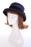 De blauwe hoed van dames royalty-vrije stock afbeelding