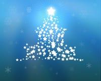 De blauwe illustratie van de Kerstboom royalty-vrije illustratie