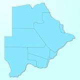 De blauwe kaart van Botswana op gedegradeerde achtergrond Royalty-vrije Stock Afbeelding