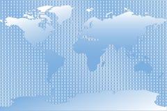 De blauwe Kaart van de Wereld Stock Foto's
