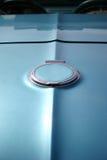 De blauwe Klassieke Close-up van de Auto Stock Afbeeldingen