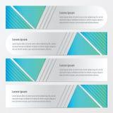De blauwe kleur van het bannerontwerp Royalty-vrije Stock Afbeeldingen