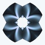 De blauwe knoop van het titanium Stock Afbeeldingen
