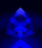 De Blauwe Kubus van Illumined Royalty-vrije Stock Afbeeldingen