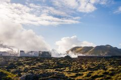 De Blauwe Lagune van IJsland royalty-vrije stock foto's