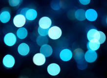 De blauwe lichten van de partij Stock Foto's