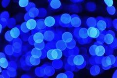 De Blauwe Lichten van Defocused Stock Afbeelding