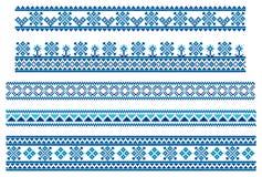 De blauwe lijnen van het borduurwerk Royalty-vrije Stock Afbeeldingen