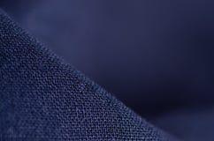 De blauwe macro van de stoffen materiële textuur Royalty-vrije Stock Afbeeldingen