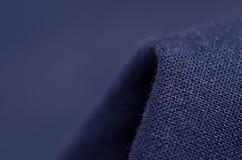 De blauwe macro van de stoffen materiële textuur Stock Afbeelding