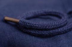 De blauwe macro van de stoffen materiële textuur Royalty-vrije Stock Afbeelding
