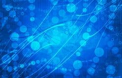 De blauwe Medische Abstracte Achtergrond van de Wetenschaps Futuristische Technologie Stock Foto