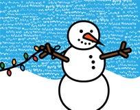 De blauwe Meertalige Scène van Kerstmis royalty-vrije illustratie