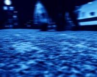 De blauwe mening van de station lage hoek Royalty-vrije Stock Foto