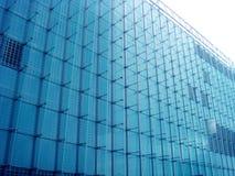De blauwe Moderne Bouw Stock Afbeelding