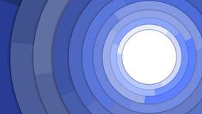 De blauwe Moderne Cirkels kopiëren Ruimte Abstracte Achtergrond Royalty-vrije Stock Afbeeldingen