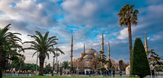 De Blauwe Moskee is een historische moskee in Istanboel, Turkije royalty-vrije stock fotografie