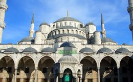 De blauwe Moskee in Istanboel Royalty-vrije Stock Foto's