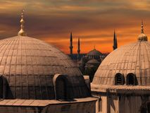 De blauwe Moskee in Istanboel Royalty-vrije Stock Afbeelding