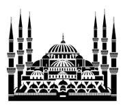 De blauwe Moskee, Istanboel stock illustratie