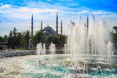 De Blauwe Moskee, Sultanahmet Camii, Istanboel, Turkije Royalty-vrije Stock Foto