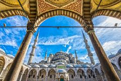 De Blauwe Moskee, Sultanahmet Camii, Istanboel, Turkije Royalty-vrije Stock Afbeelding