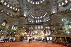De blauwe Moskee, (Sultanahmet Camii), Istanboel, Turkije Stock Afbeelding