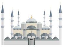 De blauwe Moskee Turkije Istanboel vector illustratie