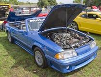 De blauwe Mustang van McLaren van de Doorwaadbare plaats Stock Afbeelding